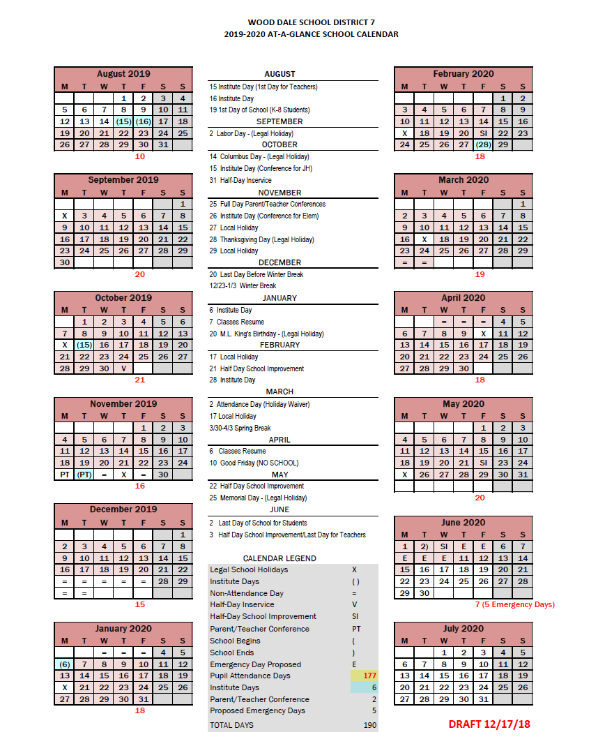 2019-20 DRAFT CALENDAR NOW AVAILABLE SEEKING INPUT FROM FAMILIES --  2019-20 CALENDARIO PRELIMINAR AHORA DISPONIBLE SOLICITAMOS COMENTARIOS DE NUESTRAS FAMILIAS